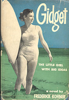 Kathy Kohner was pictured on the cover of this early copy of her dad's book